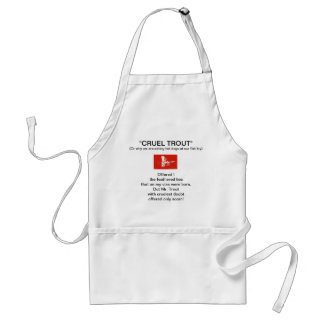 """""""Red Coachman Dry Fly-Cruel Trout""""  Apron"""