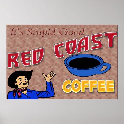 Red Coast Coffee Retro Poster