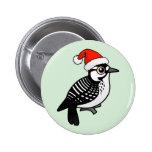 Red-cockaded Woodpecker Santa Pinback Button