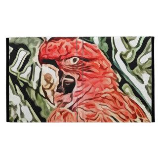 red cockatoo painting iPad folio covers