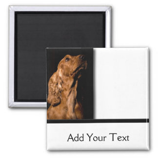 Red Cocker Spaniel Portrait 2 Inch Square Magnet