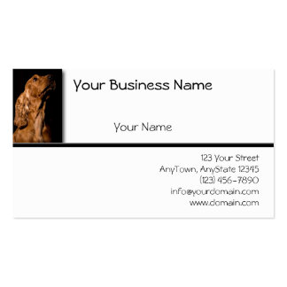 Red Cocker Spaniel Portrait on Black and White Business Card