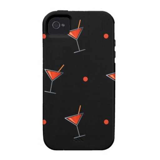 Red Cocktail Martini Glass iPhone 4/4S Case
