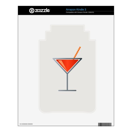 Red Cocktail Martini Glass Skins For Kindle
