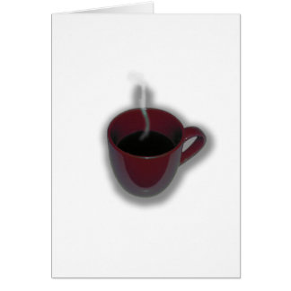 Red Coffee Cup Design by Leslie Harlow Greeting Card