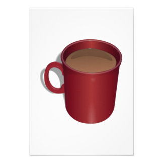 Red Coffee Cup Invites