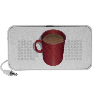 Red Coffee Cup Portable Speakers
