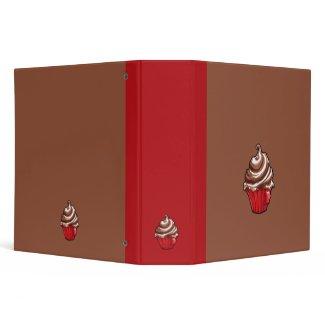 Red Coffee Cupcake coffee Binder binder