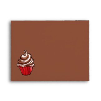 Red Coffee Cupcake coffee Note Card Envelope