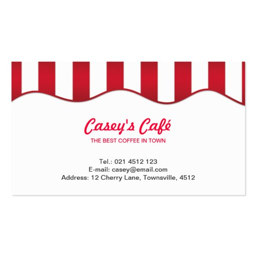 Red Coffee Shop Double-Sided Standard Business Cards (Pack Of 100)