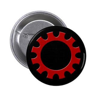 Red Cog Button! 2 Inch Round Button