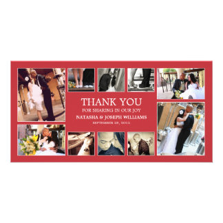 RED COLLAGE | WEDDING THANK YOU CARD
