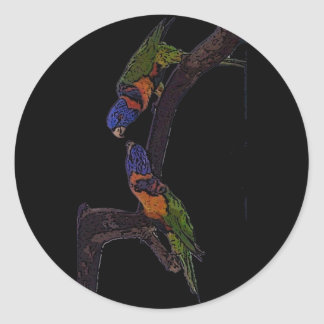 Red Collared Lorikeet Classic Round Sticker