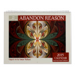 Red Collection Abstract Fractal 2015 Calendar