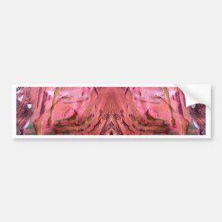 red color bumper sticker