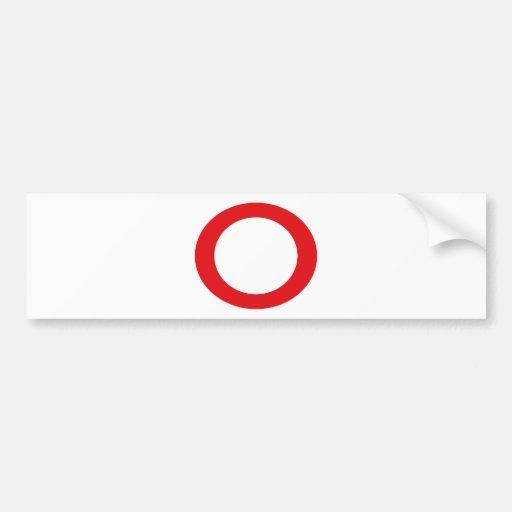 Red Color Circle Simple Customizable Design Bumper Sticker