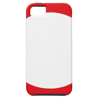 Red Color Circle Simple Customizable Design iPhone SE/5/5s Case