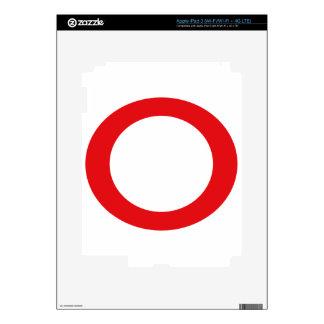 Red Color Circle Simple Customizable Design iPad 3 Skin