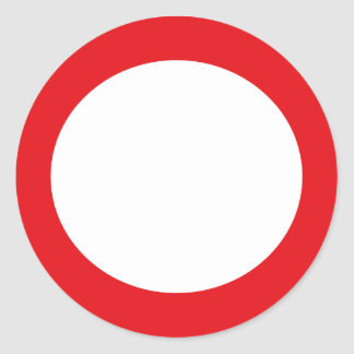 Red Color Circle Simple Customizable Design Round Stickers