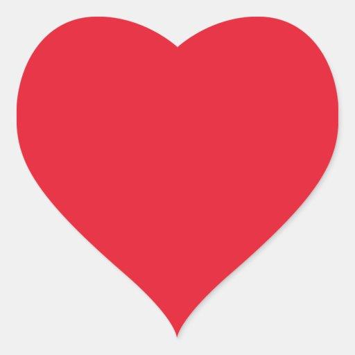 Red Color Heart Sticker  Zazzle
