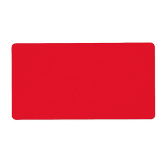 Red Color Label