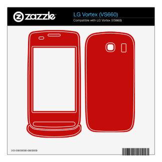 red color LG vortex skins