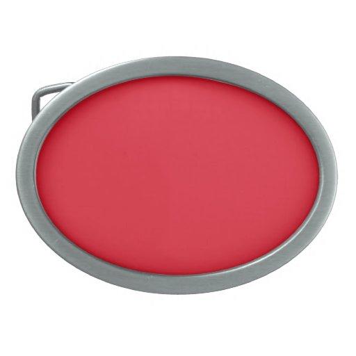 Red Color Oval Belt Buckles