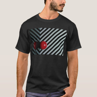 Red color Snooker ball T-Shirt
