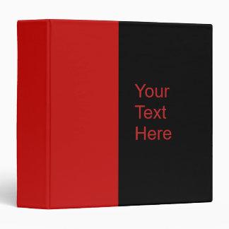 red color vinyl binder
