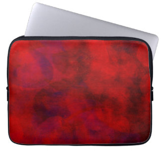 Red Color Watercolor Backdrop Abstract Background Laptop Computer Sleeve