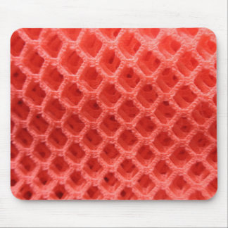 Red Colored Crochet Fabric Look Mouse Pad