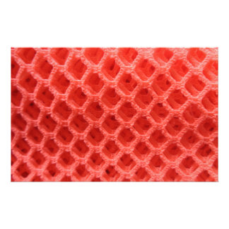 Red Colored Crochet Fabric Look Stationery