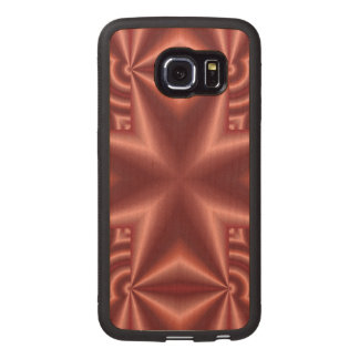 Red colored Cross Wood Phone Case