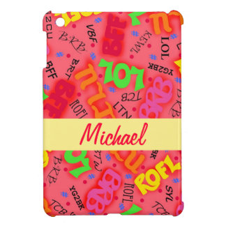 Red Colorful Electronic Texting Art Abbreviation Cover For The iPad Mini