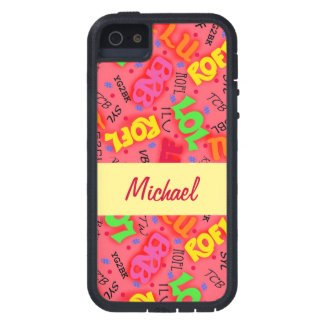 Red Colorful Electronic Texting Art Abbreviation iPhone SE/5/5s Case