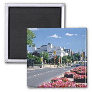 Red Colorful Elgin Street, Ottawa flowers Magnet