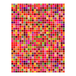 Red colorful mosaic letterhead