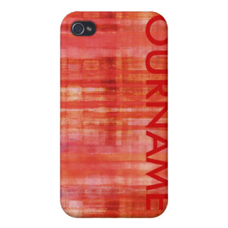 Red Colors Art Your Name iPhone 4 Case