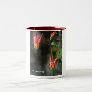 Red Columbine Wildflower Mug