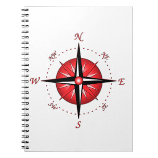 Red Compass Rose Notebook