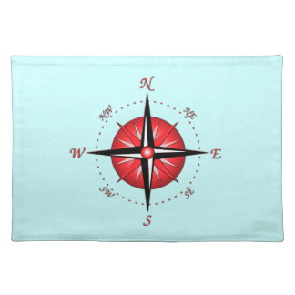 Red Compass Rose Place Mat