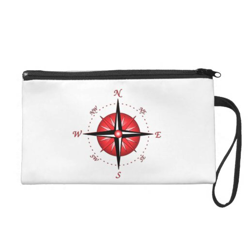 Red Compass Rose Wristlet