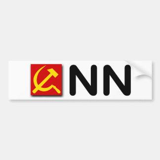 """Red comunista conservadora de las noticias"" Pegatina Para Auto"