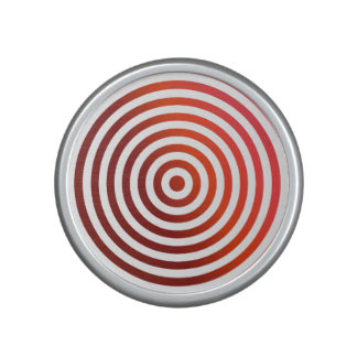 Red concentric circles bluetooth speaker