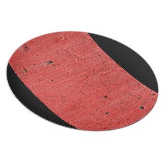 Red Concrete Plate