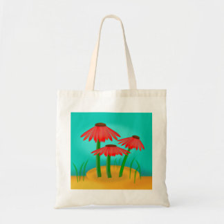 Red Cone Flower Tote Bag