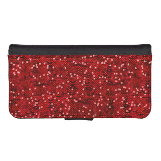 Red Confetti Glitter Print iPhone SE/5/5s Wallet