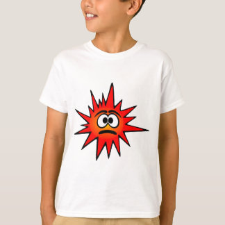 Red confused funny bacteria T-Shirt
