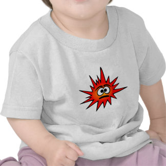 Red confused funny bacteria tee shirts
