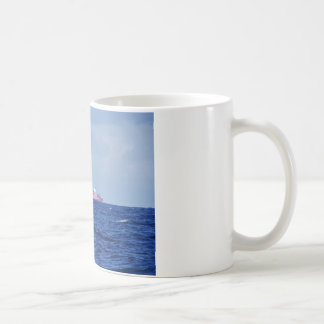 Red Container Ship Coffee Mug